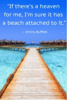 Jimmy Buffett beach quote - Inspiring & motivating quotes