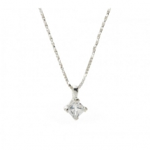 John Greed Love Story Silver & CZ Necklace - Jewelry