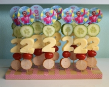 Kabobs for a 2 year old birthday - Watermelon Birthday