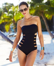 Kenneth Cole Reaction Bandeau Cutout One-Piece Swimsuit - Bathing Suits