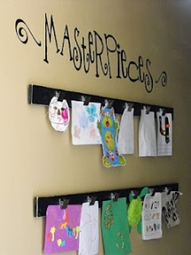Kids art work display idea - For the home
