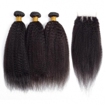 Kinky Straight Hair Weave Bundles Yaki Straight Human Hair -AshimaryHair.com - Hairstyles