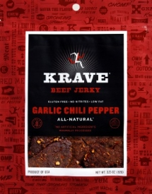 Krave - garlic chili pepper gourmet beef jerky - Fave products
