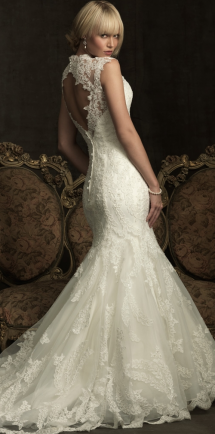 Lace Wedding Dress with Open Back - My Wedding Dress