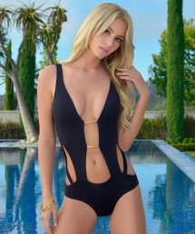 Lady Lux Knock Out - Plunge Monokini Onepiece Swimsuit by Lady Lux - Swimsuits