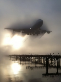 Landing in the morning mist [photo] - Fantastic shots