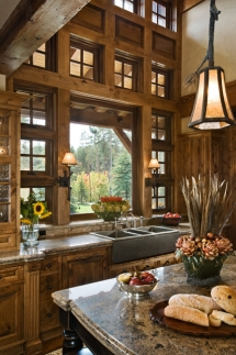 Large window over kitchen sink - Dream Kitchens