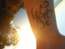 Let It Be Tattoo - Amazing black & white photos