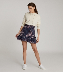 Liza Floral Printed Mini Skirt - Comfy Clothes