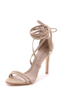 Lola Suede Ankle Wrap Sandals by Schutz - Sandals