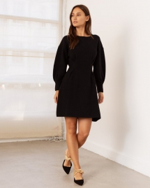 Loretta Pinched Sleeve Dress - My Fall Style