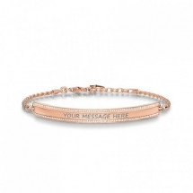 Love Bridge 18ct Rose Gold Plated CZ Bracelet by Thomas Sabo  - Jewelry