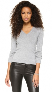 Low V Neck Sweater by 525 America - Day Wear