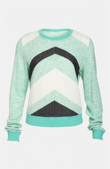 Lucca Couture Chevron Stripe Sweater - Fave Clothing