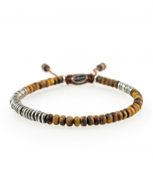 M. Cohen Round Table Bracelet in Tiger Eye - Clothes make the man