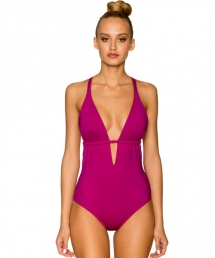 Macrame Plunge One Piece  - Swimsuits