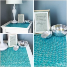 Make a Glass Marble Tiled Table - Fun crafts