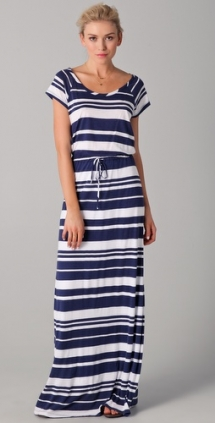 Maritime Stripe Maxi Dress - Fave Clothing