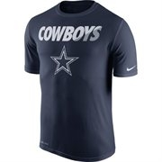 Men's Dallas Cowboys Nike Navy Blue Legend Staff Practice Performance T-Shirt - Sports Apparel