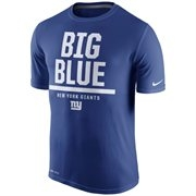 Men's New York Giants Nike Royal Blue Local Legend Verbiage Performance T-Shirt - Sports Apparel