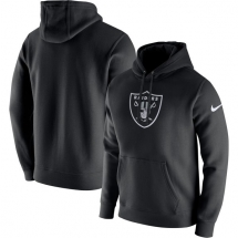 Men's Nike Black Oakland Raiders Club Fleece Logo Pullover Hoodie - Sports Apparel