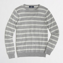 Men's stripe cotton-cashmere sweater - Clothes