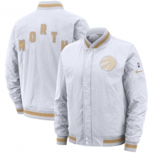 Men's Toronto Raptors Nike White City Edition Courtside Full-Zip Bomber Jacket - Sports Apparel