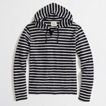 Mens Black & White striped hoodie - Clothes