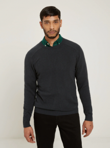 Merino Wool Blend Crewneck - Men's Style