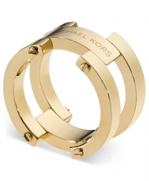 Michael Kors Ring Gold-Tone Link Ring - Fave Clothing & Fashion Accessories