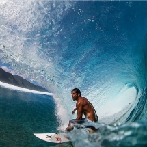 Michel Bourez (the Spartan) in the Billabong Pro Tahiti - Surfing