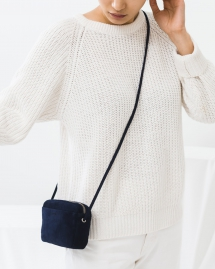 Midnight Suede Mini Purse - Fave Clothing, Shoes & Accessories