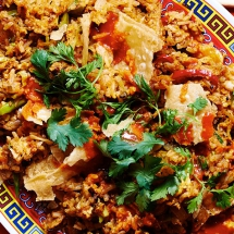 Migas Fried Rice - Cooking