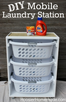 Mobile Laundry Station - Laundry Room Ideas