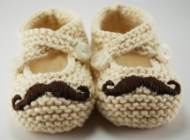 Mustache Baby Booties - For the kids
