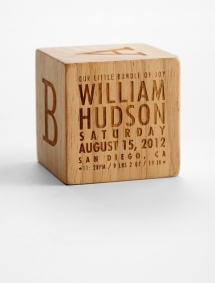 Natural Wood Keepsake Block - Gifts