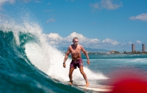 Never ever too old to have some fun in the surf - Surfing