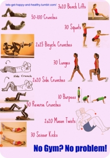 No Gym? No Problem! Workout - At Home Exercises