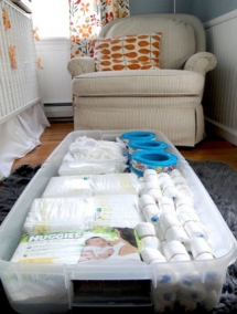 Nursery organization ideas - For the new arrival