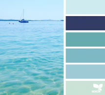 Ocean inspired color pallet - Beach House Decor Ideas