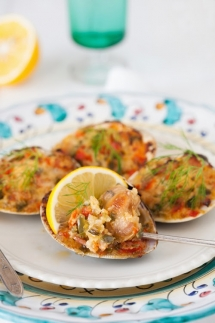 Old Fashioned Stuffed Baked Clams - Food & Drink