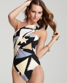 One Shoulder Swimsuit - Fave Clothing