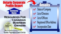 Ontario Corporate Profile Report - Ontario Services