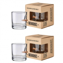 Original BenShot Bullet Rock Glasses with Real 0.308 Bullets - Gifts for Dudes