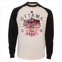 Ottawa Senators Camp Raglan Long Sleeve Jersey T-Shirt - Sports Apparel