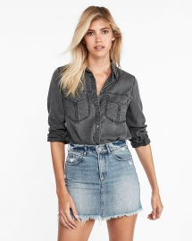 Oversized Pocket Boyfriend Shirt - My Summer Fashion