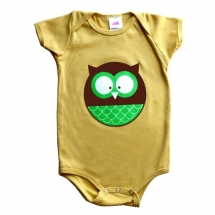 Owl organic onesie - For the little one
