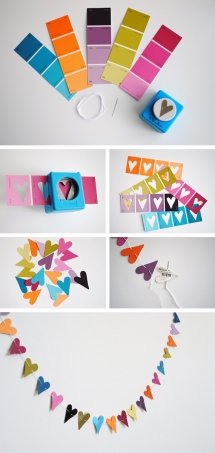 Paint Chip Hearts - DIY Projects