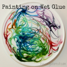 Painting on wet glue - Awesome Art lessons