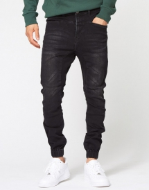 Park Washed Pursuit Jogger Jeans Black - Man Style